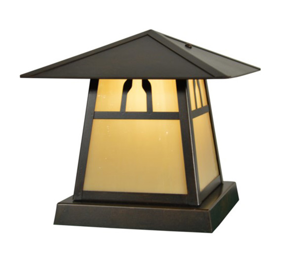 High quality outdoor column mount lighting carmel 7 h arts crafts outdoor column mount light aloadofball Image collections