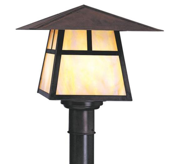 Carmel 11 h arts crafts outdoor post light grand light for Arts and crafts style outdoor lighting