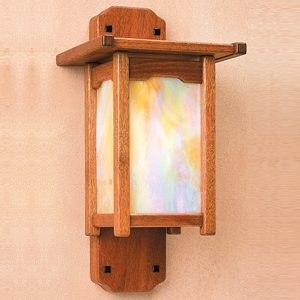 "Medium Arts & Crafts Wall Sconces - 9"" to 14"" W"