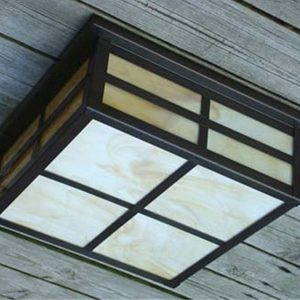 Arts & Crafts Outdoor Ceiling Lighting