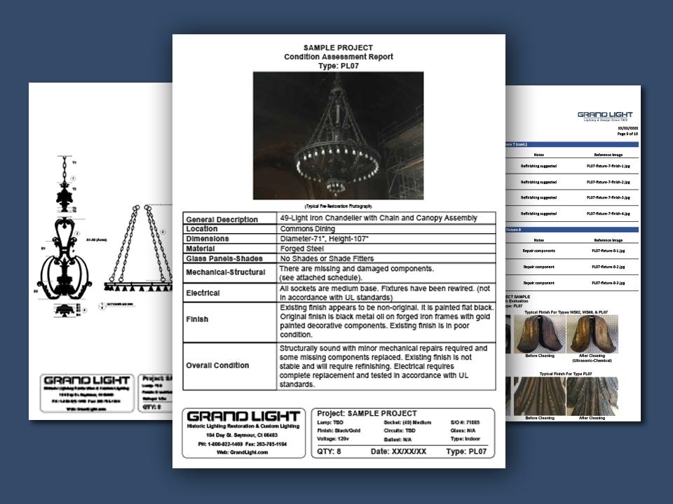 grand light historic lighting evaluation report sample graphic