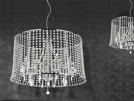 "Medium Crystal Pendant Lighting - 11"" to 20"" Dia"