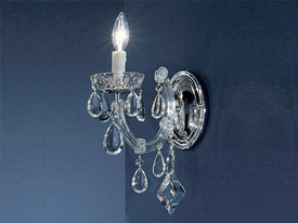 "Small Crystal Wall Sconces - 3"" to 8"" W"
